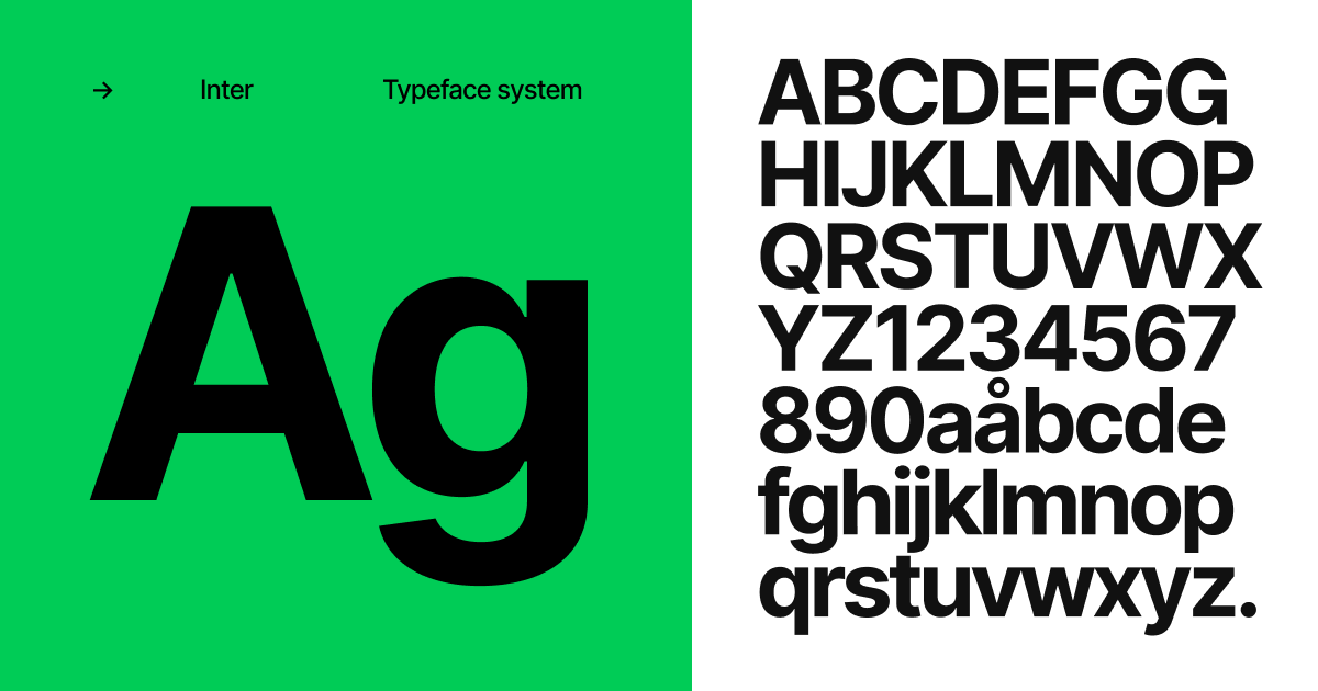 The Inter font family